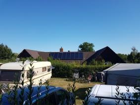 Der Strom für die Sanitäranlagen stammt zu 70% aus Solarenergie