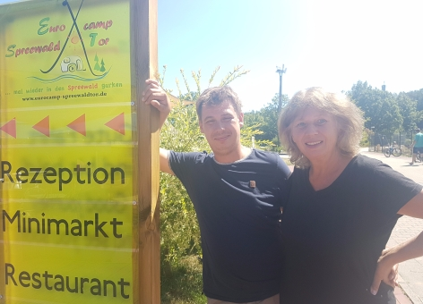 Anette und Alexander Weber vom Eurocamp Spreewaldtor